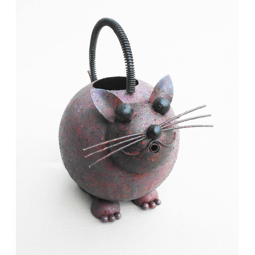 D-Art Collection Iron Cat Watering Can by Overstock