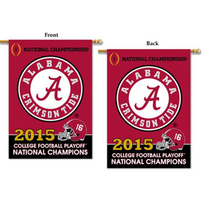 BSI Products 45792A Alabama Crimson Tide - CFP Champions 2-sided 28 x 40 inch Banner