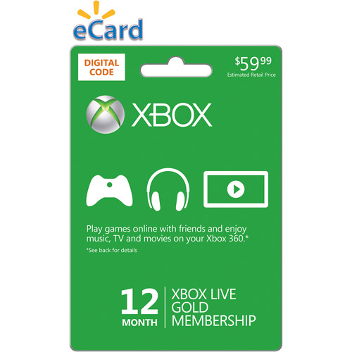 (Email Delivery) Xbox LIVE 12-Month Gold Membership Code (Xbox 360)