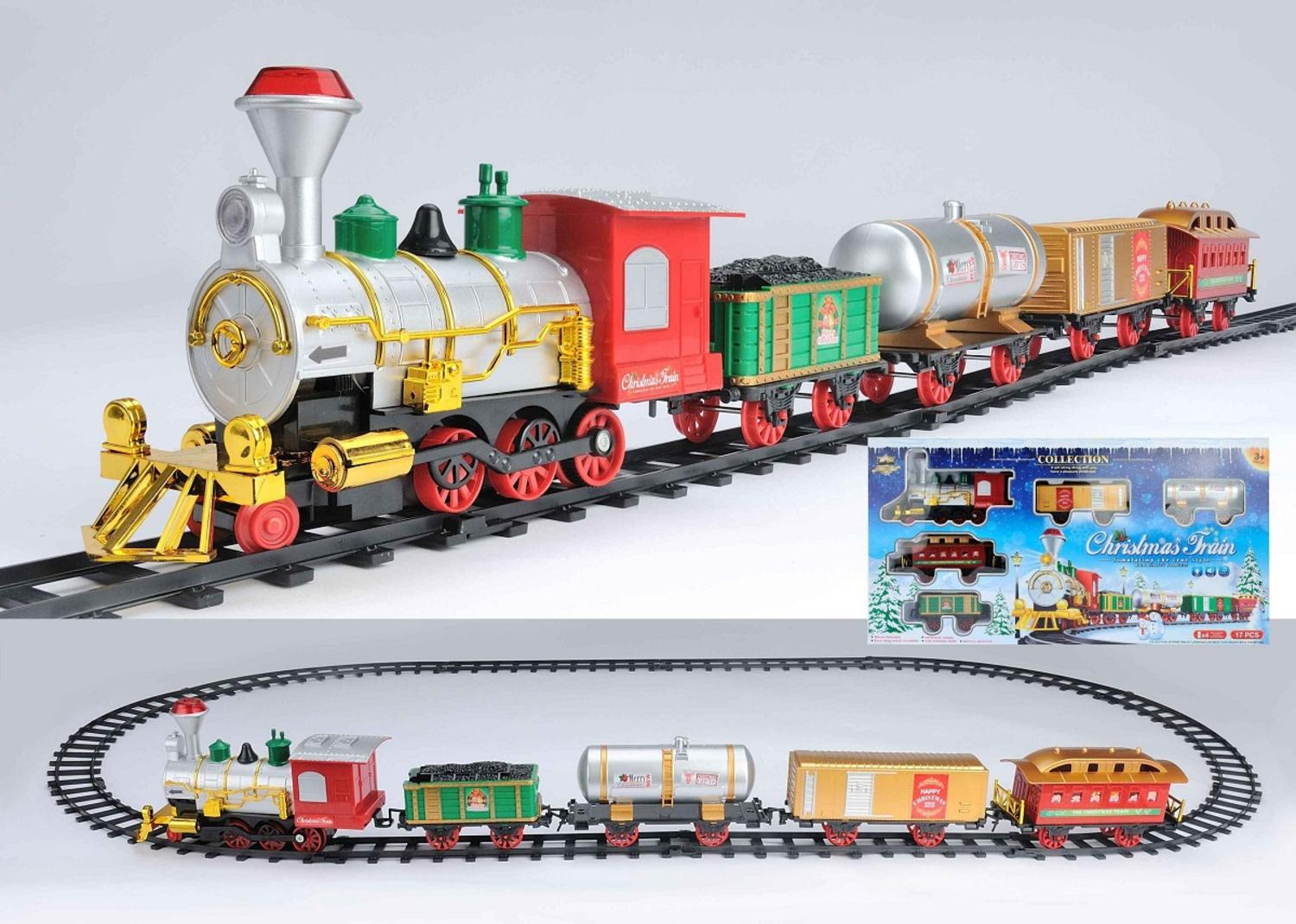 17-Piece Battery Operated Lighted & Animated Christmas Express Train Set with Sound by Northlight