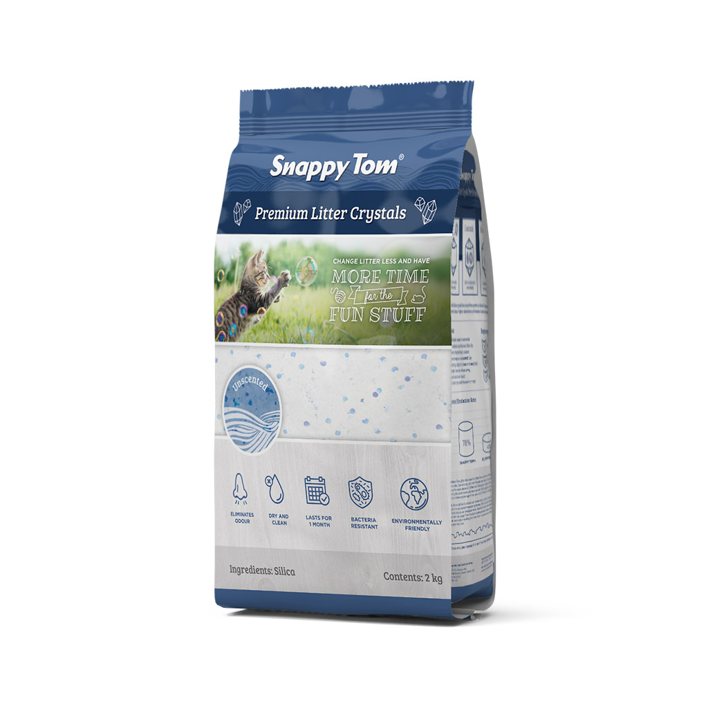 Snappy Tom Natural Blue Crystal Cat Litter, 4.4-lb