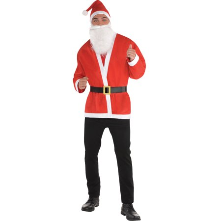 Santa Claus Mens Adult Christmas Holiday Saint Nick Costume Jacket-STD