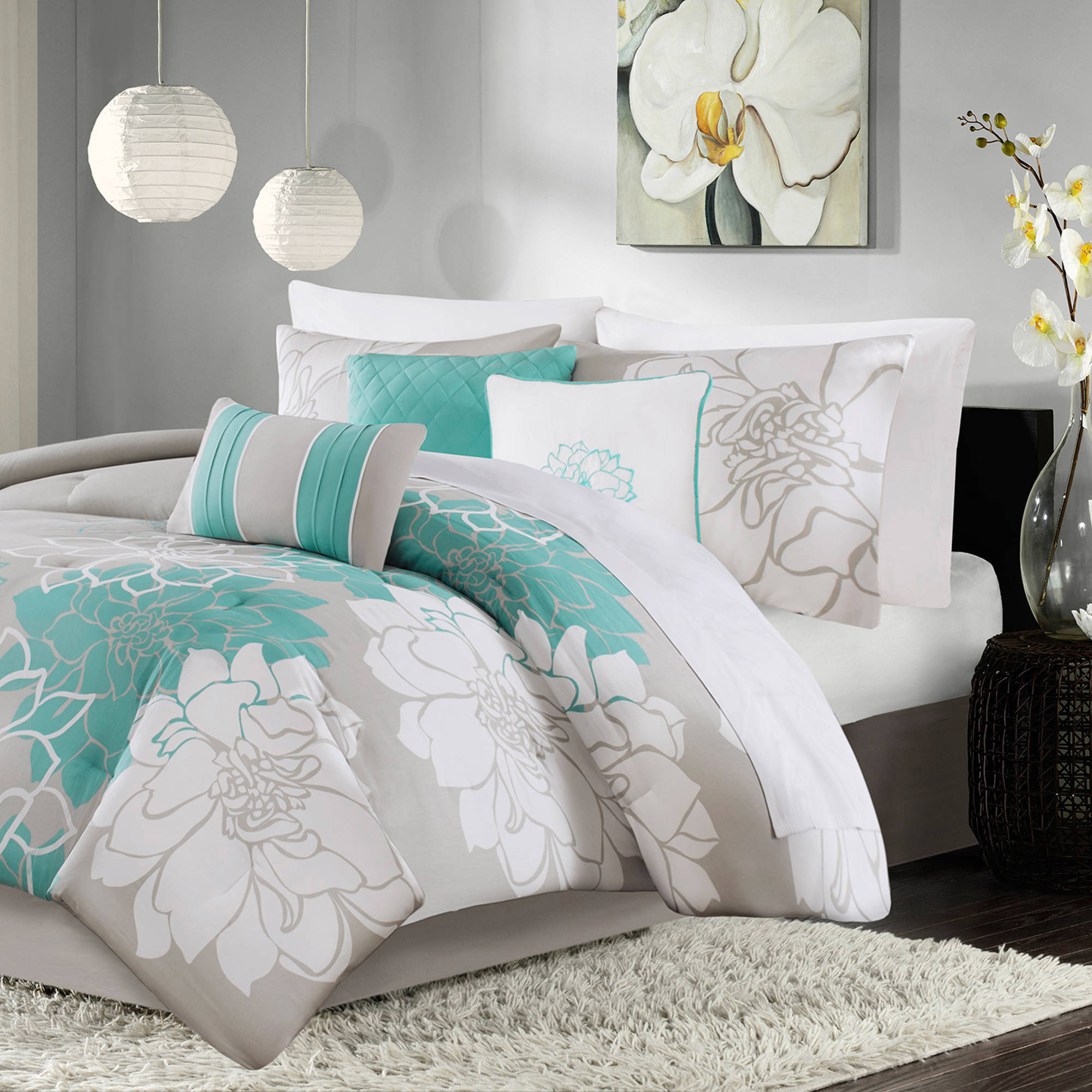 Home Essence Jane Print Comforter Set