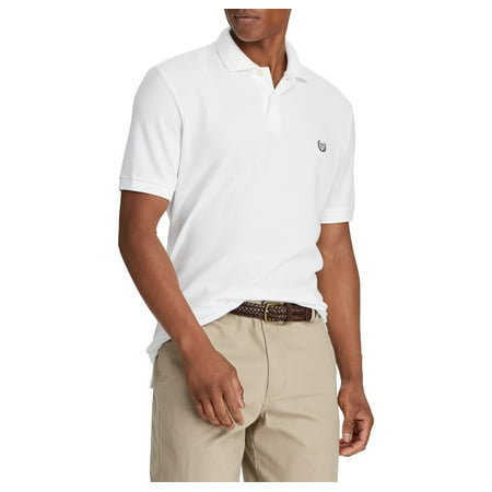 c63c4ab52 Chaps - Men s Short Sleeve Solid Pique Polo with Stretch - Walmart.com