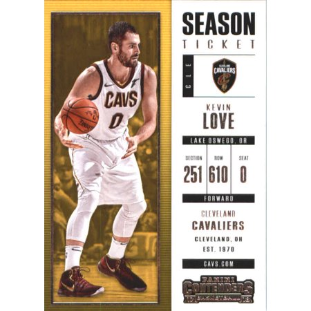 2017-18 Panini Contenders Season Ticket #28 Kevin Love Cleveland Cavaliers Basketball Card