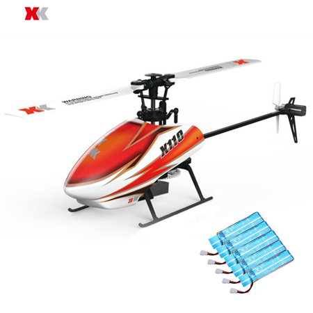 XK K110 Blast 6CH Brushless 3D6G System RC Helicopter BNF (Compatible with FUTABA S-FHSS.without transmitter)