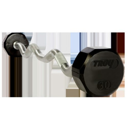 Troy Barbell Solid Rubber 12-Sided Curl Bar Set 20 to 110 lb.