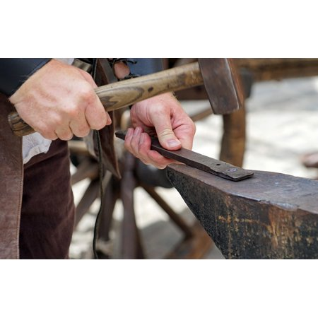 LAMINATED POSTER Forge Middle Ages Hammer Iron Metal Blacksmith Poster Print 24 x 36