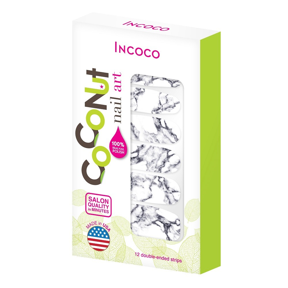 Coconut Nail Art by Incoco Nail Polish Strips, Stone Cold