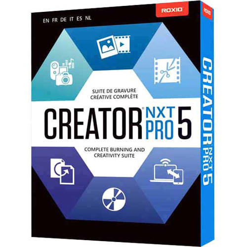 Roxio Creator NXT Pro 5 Powerful DVD Burning and Bonus Creative Software