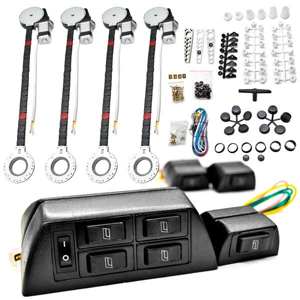4x Door Car Power Window + Keyless Door Unlock Kit For Bentley / Hino Arnage Azure Brooklands Continental - image 3 de 4