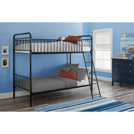 Better Homes and Gardens Kelsey Twin/Twin Metal Bunk Bed, Multiple Colors