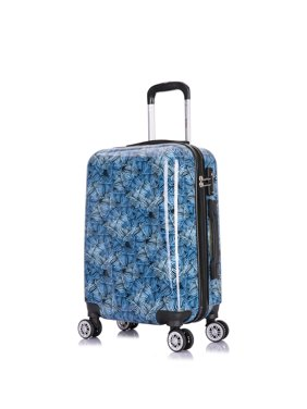 d5a1efa6b20c Product Image InUSA Printed Lightweight Hardside Spinner 20 inch Carry-on  Butterfly haze