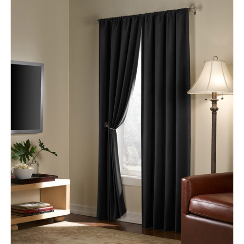 Maytex Serenity Blackout Energy Window Panels, Set of 2
