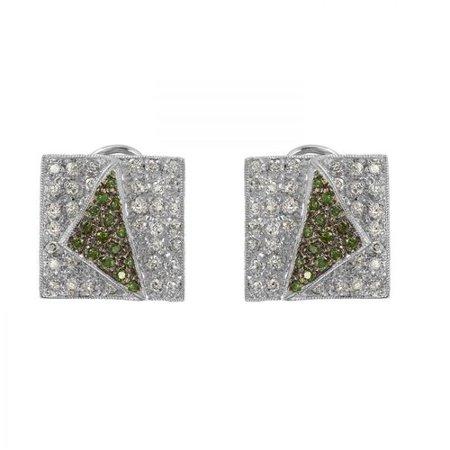 Foreli 1.49CTW Diamond 14K White Gold Earrings