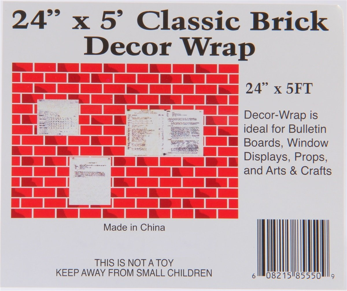 Christmas Classic Corrugated Brick Roll Wrap Chimney Prop Use For A Chimney Or Fireplace Prop By Classic Christmas Walmart Com Walmart Com