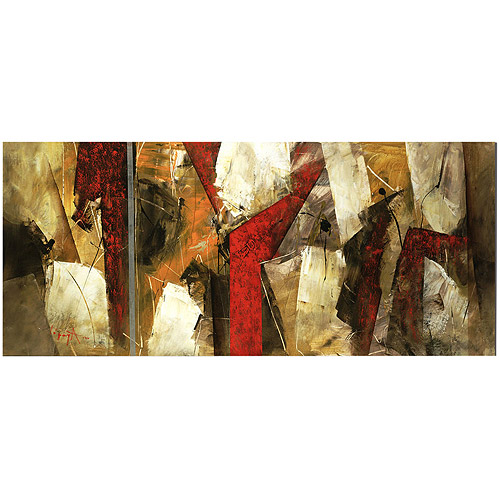 "Trademark Fine Art ""Abstract IX"" Canvas Art by Lopez, 14x32"