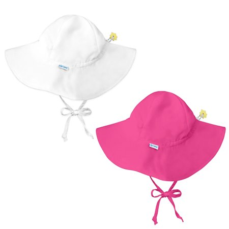 5ecff256c4303 iplay. - i play Baby and Toddler Brim Sun Protection Hat- White and Hot Pink  - 2 Pack - Walmart.com