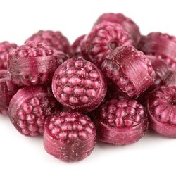 Unwrapped Filled Red Raspberries | Holiday Hard Candy | 1.5 - Halloween Candy Unwrapped