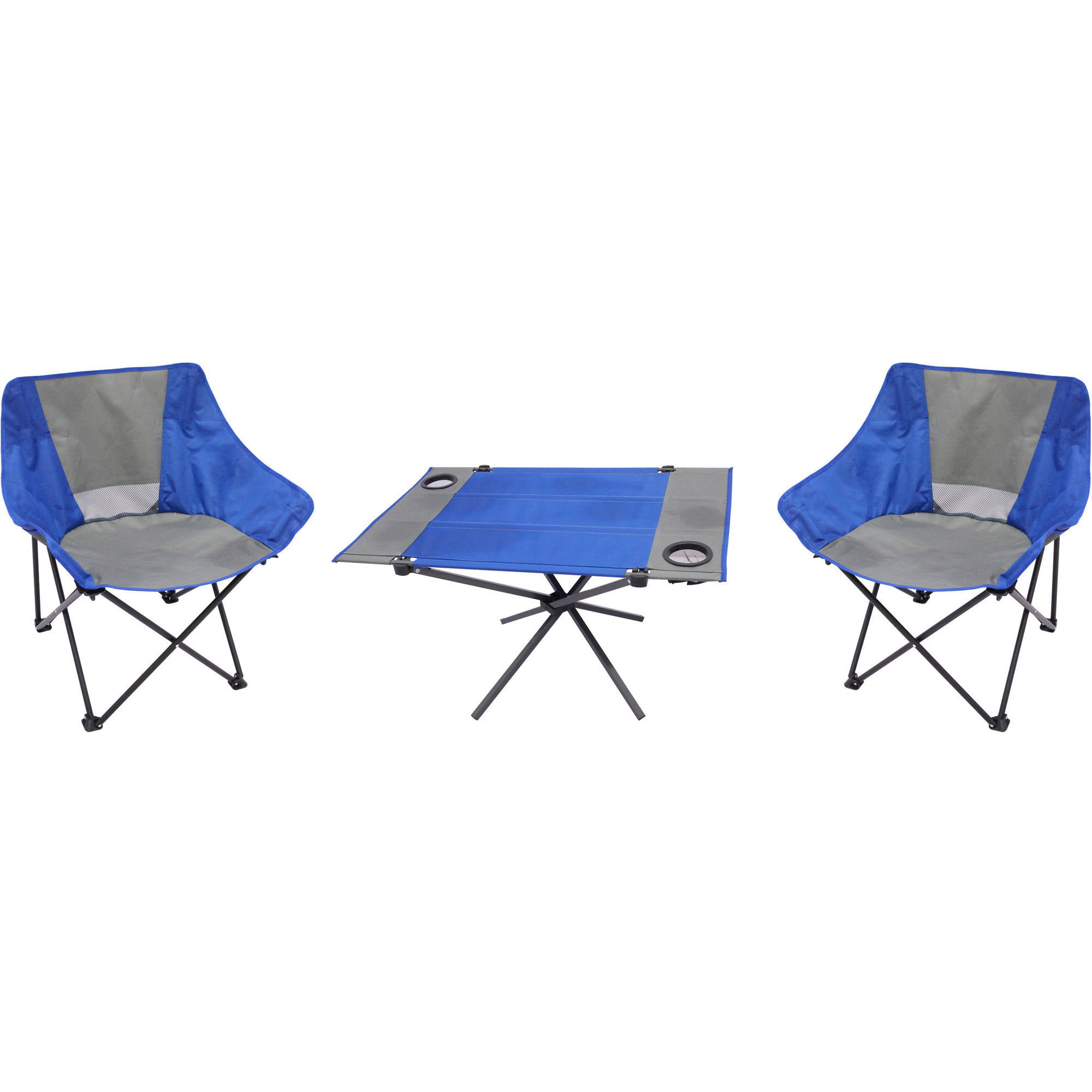 Ozark Trail 3-Piece Portable Table and Chair Set  sc 1 st  Walmart & Portable Chairs islam-shia.org
