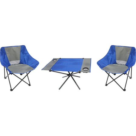 ozark trail 3 piece portable table and chair set