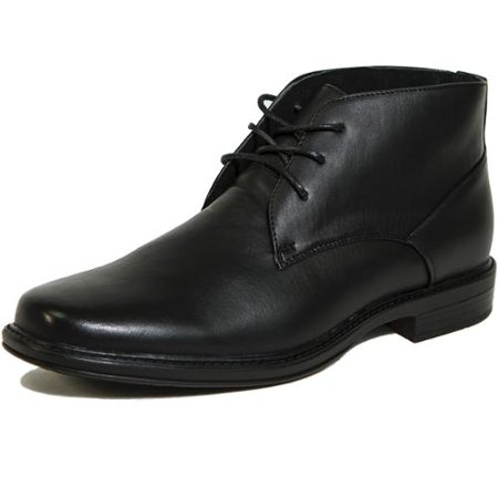 Alpine Swiss Mens Ankle Boots Dressy Casual Leather Lined Dress Shoes Lace up NW Black Size 9