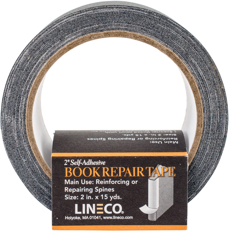 """Self-Adhesive Book Repair Tape-Black 2""""X15yd"""