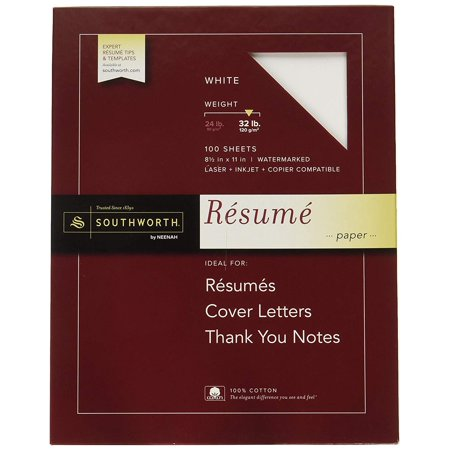 100 Cotton Resume Paper 85 X 11 32 Lb Wove