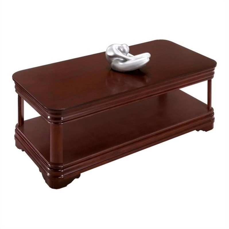 Flexsteel Rue de Lyon Coffee Table in Ruby Cabernet