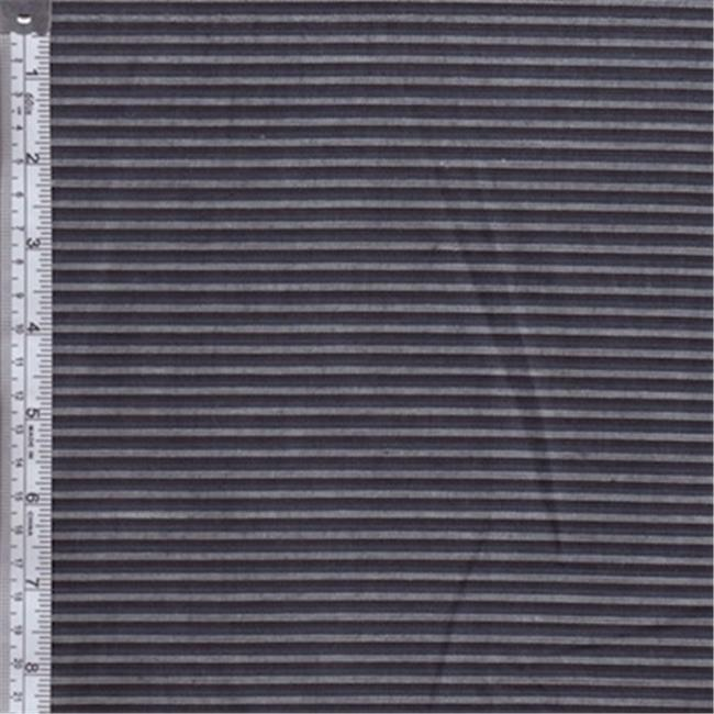 Textile Creations RW0067 Rustic Woven Fabric, Stripe Navy And Light Grey, 15 yd.