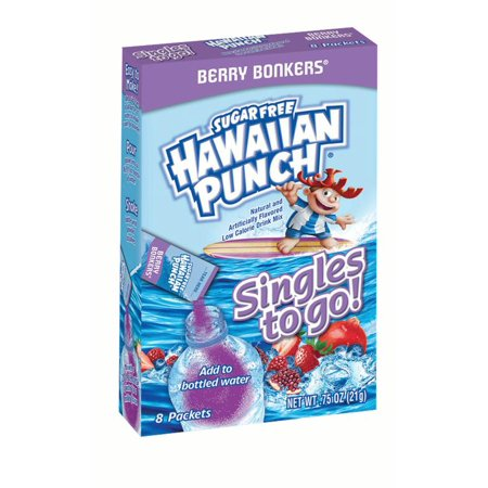 (4 Pack) Hawaiian Punch Drink Mix Singles To Go! Berry Bonkers, 8-ct box (Berry Islands)