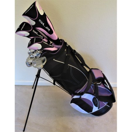 Ladies Complete Lavender Golf Set Driver, Fairway Wood, Hybrid, Irons, Sand Wedge, Putter, Clubs and Stand Bag Right Hand
