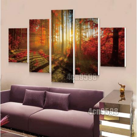 on clearance my way 5 pcs frameless canvas prints