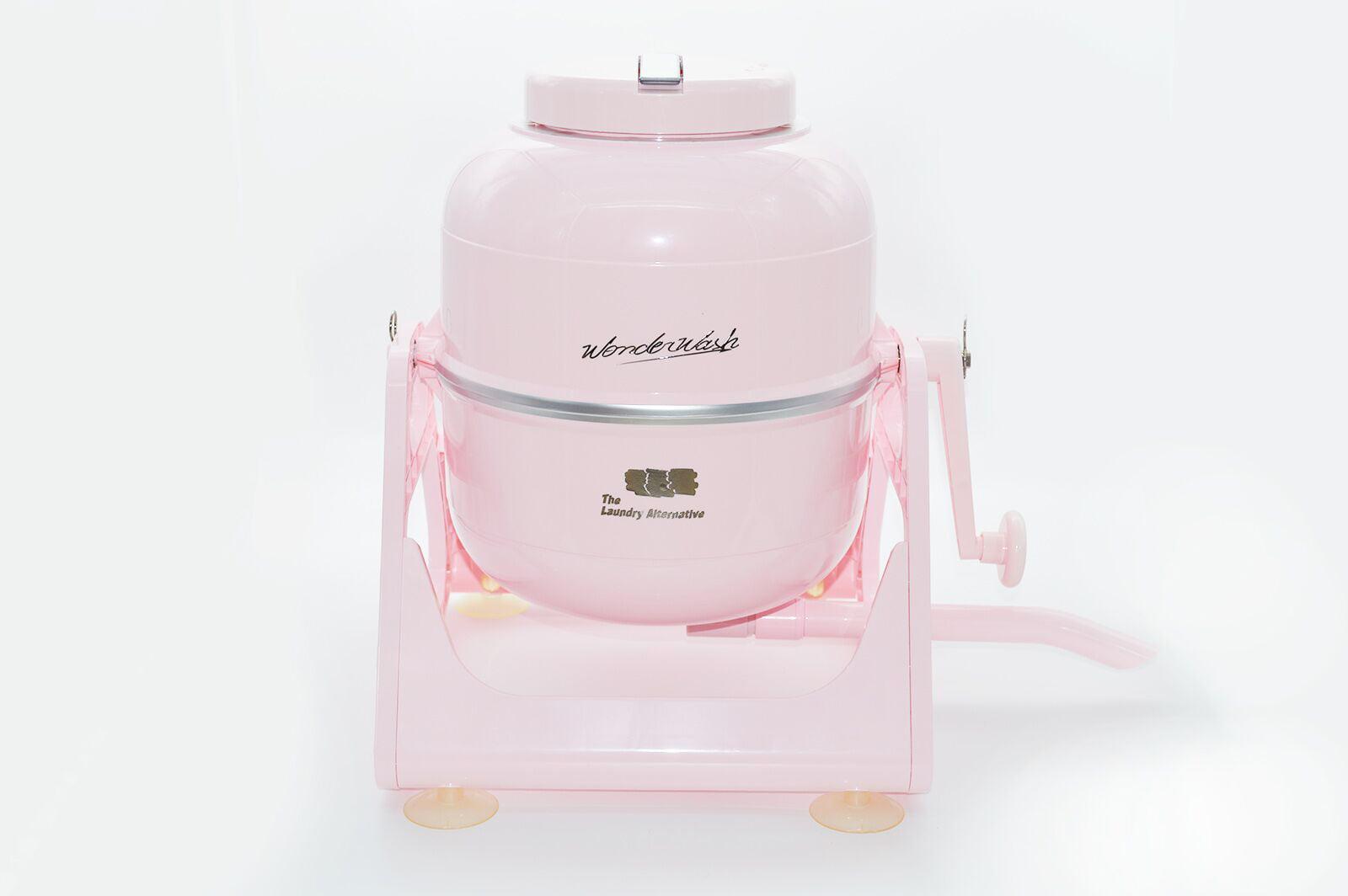 Pink The Laundry Alternative Wonderwash Retro Colors Non-electric Portable Compact Mini Washing Machine