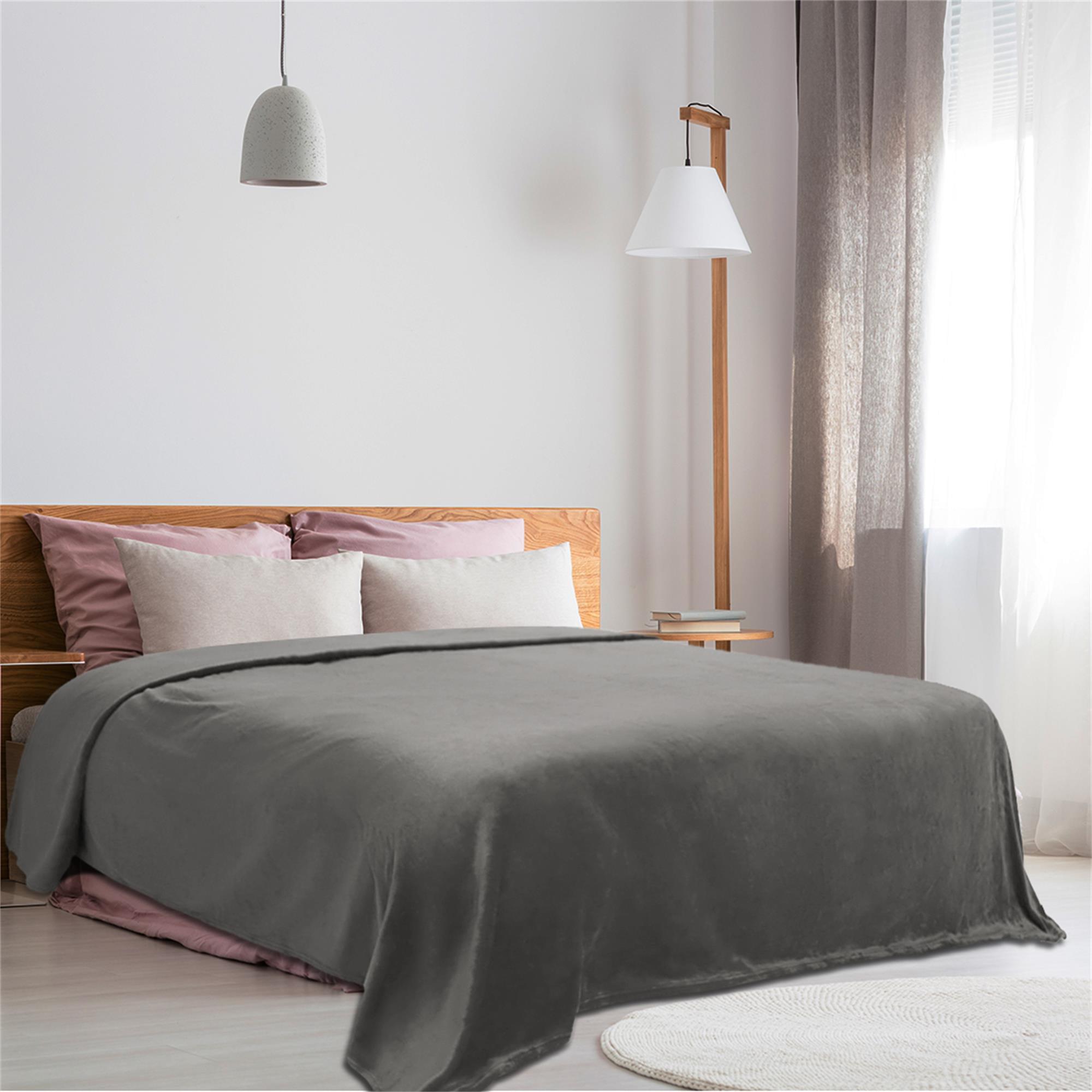 Fleece Blankets Soft Fluffy Flannel Plush Throw Blanket