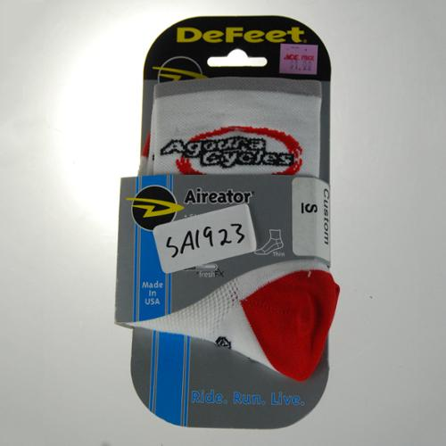 DeFeet Aireator Agoura Cycles Team Cycling Sock Red/White Small