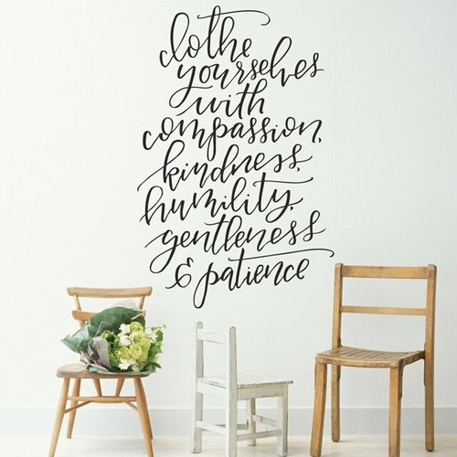 Urban Walls Clothe Yourselves Wall Decal