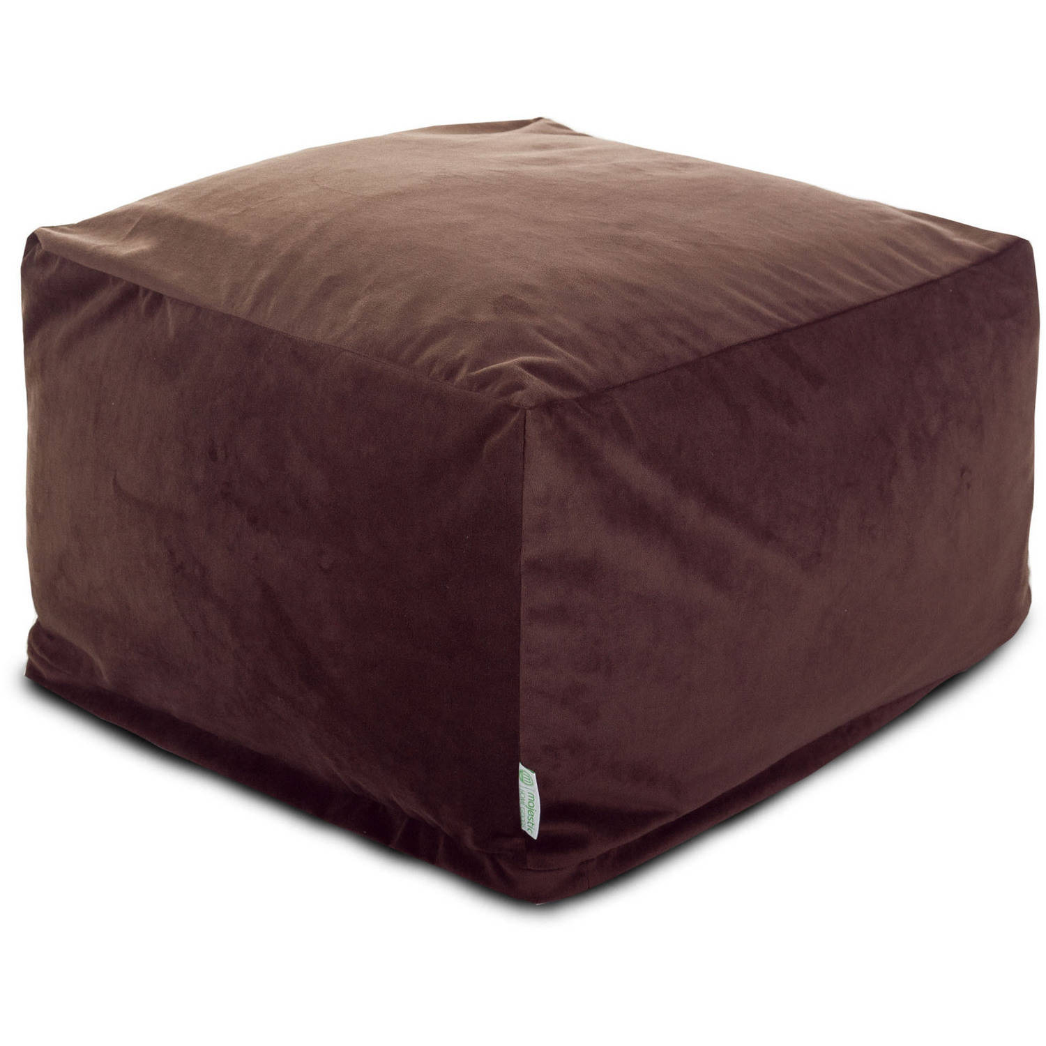 Majestic Home Goods Velvet Bean Bag Ottoman