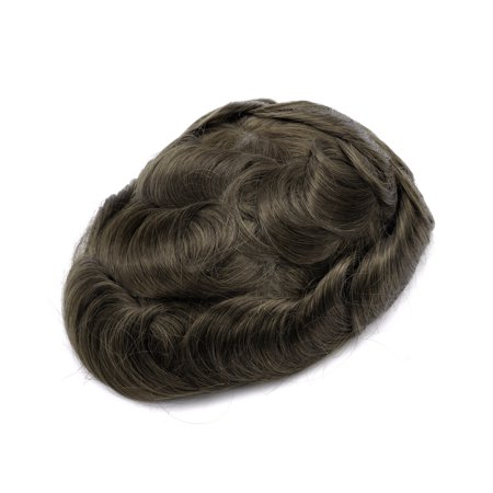 GEX Men's Toupee Human Hair Piece Wig Hair Replacement System for Hair Loss  Mirage (ASH4#)