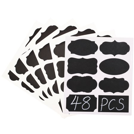 48 PCS Chalkboard Labels for Jars - Waterproof Chalk Label Stickers for Pantry Storage, Office Crafts (Printable Labels For Halloween Jars)