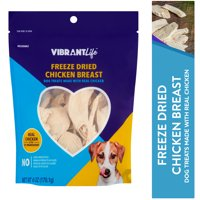 Vibrant Life Freeze Dried Chicken Breast Dog Treats, 6 oz