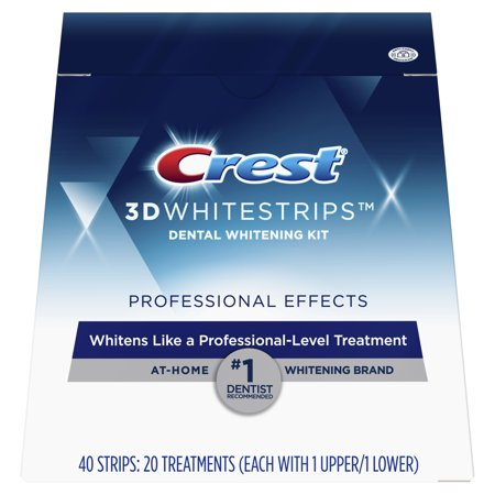 Crest 3D Whitestrips Professional Effects Teeth Whitening Strips Kit, 20 (Crest White Strips Once Or Twice A Day)