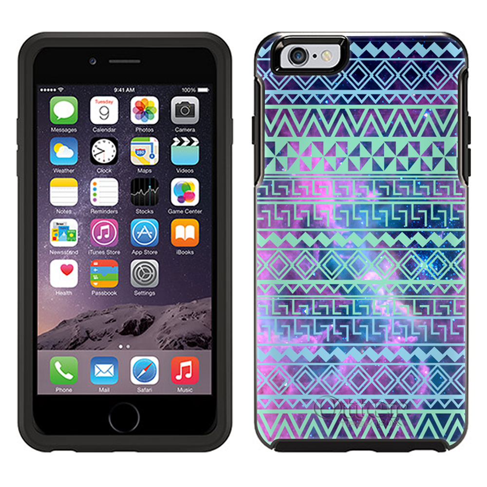 OtterBox Symmetry Apple iPhone 6 Plus Case - Aztec Andes Green Turquoise Tribal on Nebula OtterBox Case