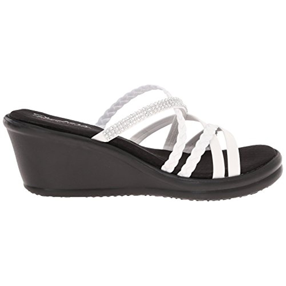 Skechers 38566WHT Women'S RUMBLERS - WILD CHILD Casual Shoes