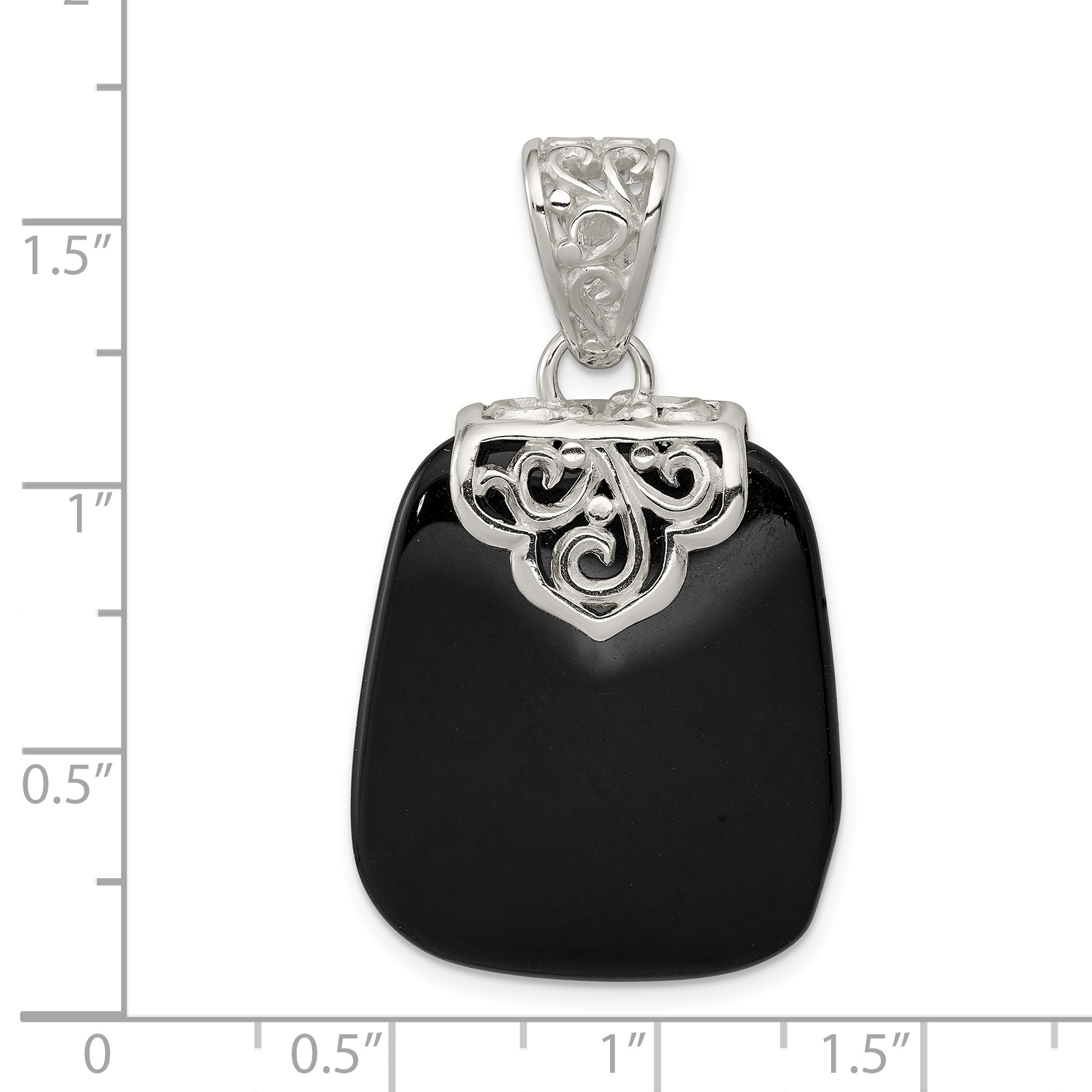 925 Sterling Silver Black Onyx Pendant Charm Necklace Natural Stone Fine Jewelry Gifts For Women For Her - image 1 de 2