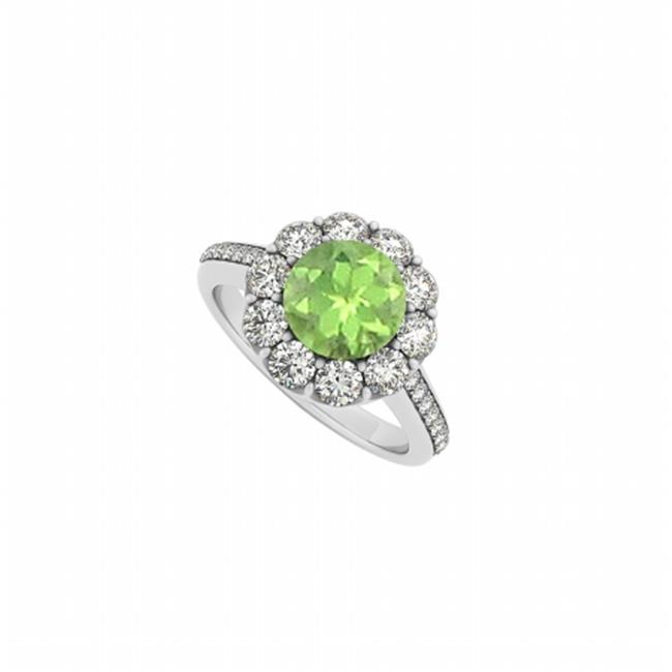 Peridot Gemstone Sterling Silver Disney August Birthstone Ring 925 Sterling Silver