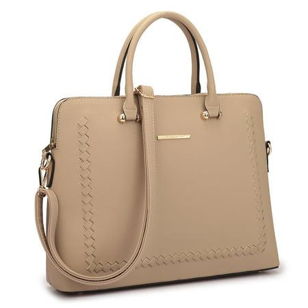 - Dasein  Front Stitching Women's Shoulder Briefcase