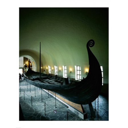 Oseberg Ship Viking Ship Museum Oslo Norway Canvas Art -  (18 x 24)
