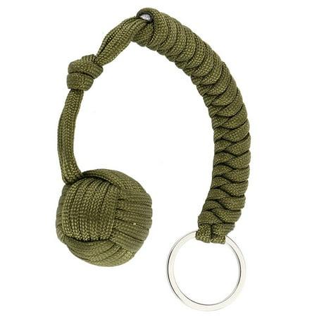 Fancyleo Monkey Fist Paracord Keychain Keyring 550 Military Steel Ball Survival Faddish (Monkey Fist Knot Keychain)