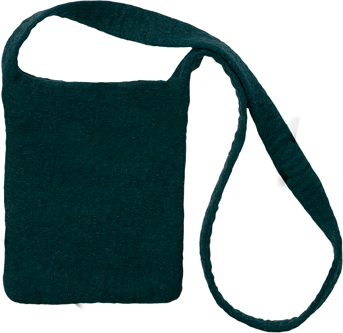 "Feltworks Shoulder Bag 7.25""X10""X1""-Black"